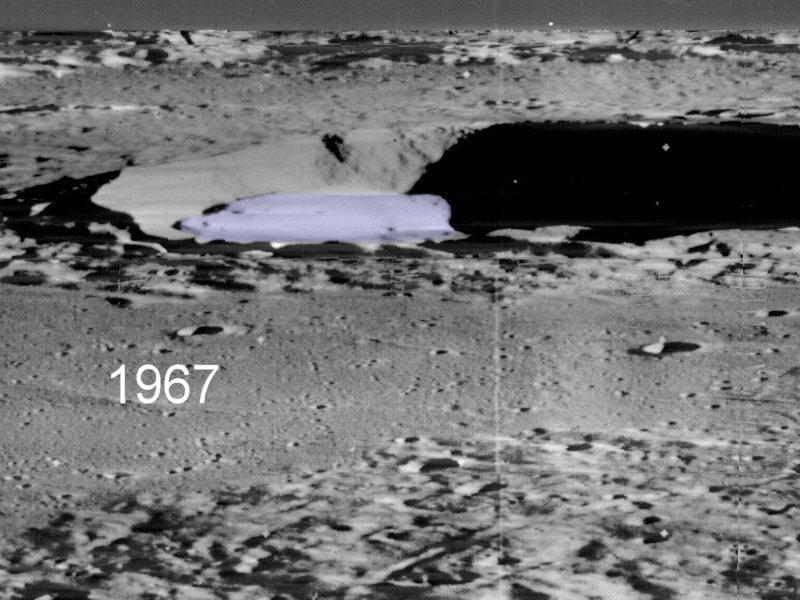 Mondrückseite Raumschiff